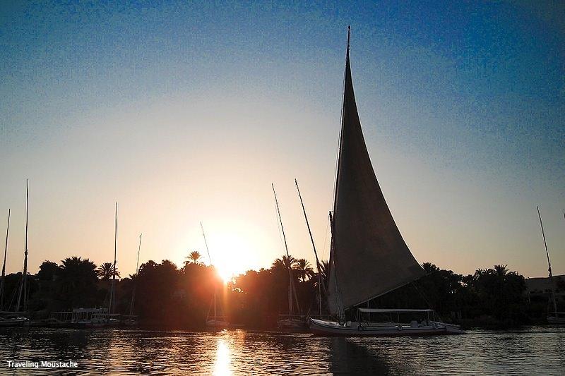 埃及遊記|亞斯文, Felucca風帆上的尼羅河午後