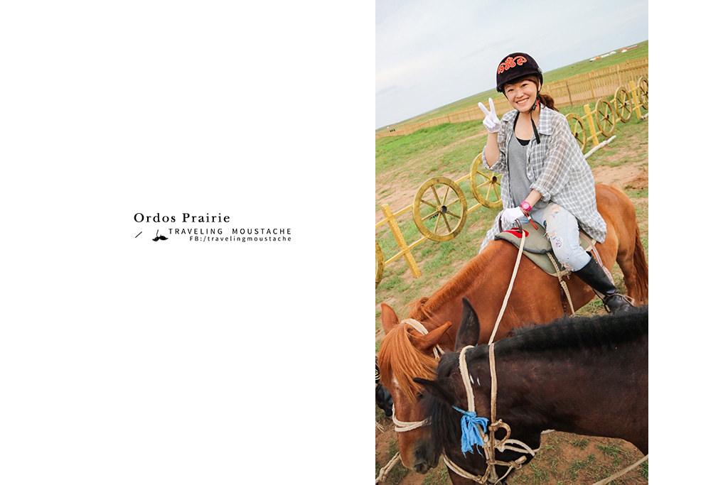 鄂爾多斯草原-騎馬
