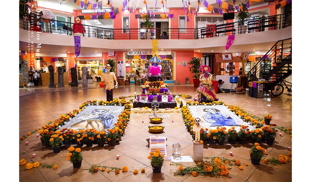 墨西哥亡靈節 祭壇裝飾 瓦哈卡 沙毯