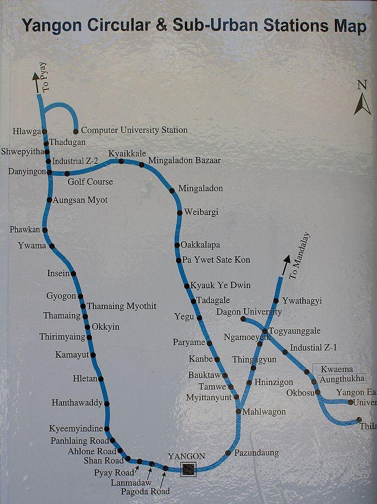 Yangon_Circular_Railway_Map_in_Train.JPG